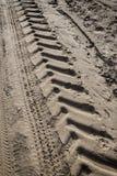 Следы автошины трактора Стоковая Фотография