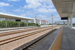 Следы быстроходного поезда Китая стоковое изображение