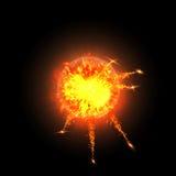 Следы взрыва Стоковое Фото