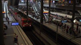 Следы главного вокзала Берлина сток-видео