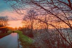 Следы захода солнца Стоковые Изображения RF