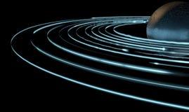 Следы и планета двигая по орбите света Стоковая Фотография RF