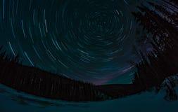 Следы и рассвет звезды Стоковые Фотографии RF