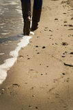 Следы на песке стоковые изображения