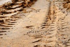 Следы ноги в песке Стоковые Изображения