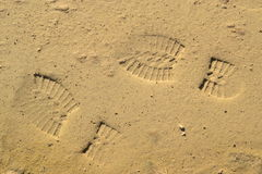 Следы ноги на грязи Стоковое Изображение