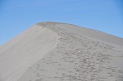 Следы ноги на песчанной дюне Стоковые Изображения RF