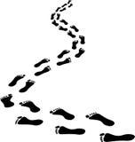 Следы ноги Стоковые Изображения RF