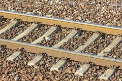 Следы поезда в депо - детали Стоковые Изображения RF