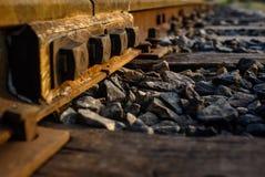 Следы поезда закрывают вверх Стоковое фото RF