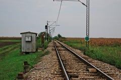 Следы поезда на сельской местности Стоковое Изображение RF