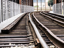 Следы поезда через мост Стоковая Фотография RF