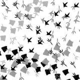 Следы птицы иллюстрация вектора