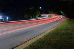 Следы света города стоковые фото