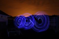 Следы света долгой выдержки Стоковое Фото