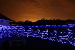 Следы света долгой выдержки Стоковые Фото