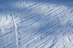 Следы снега Стоковое Фото
