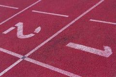 Следы стадиона, сперва или второе, выигрыш или теряют Стоковые Фото