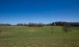 Следы трактора в поле Стоковые Изображения RF