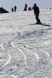 Следы лыжи Стоковые Фото