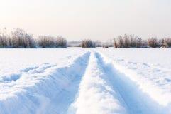 следы лыжи Стоковая Фотография