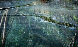Следы льда на воде Стоковое Изображение RF