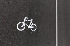След для велосипедистов Стоковое Фото