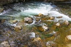 След Borosa реки идя в горах Сьерры Cazorla Стоковые Изображения RF