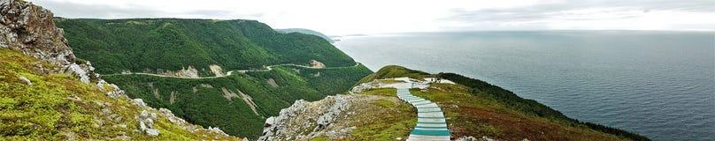 След Cabot - бретонец накидки - Канада Стоковые Изображения