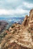 След Kaibab, южная оправа, гранд-каньон Стоковые Изображения