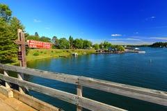 След Minocqua Висконсин положения Bearskin стоковая фотография rf