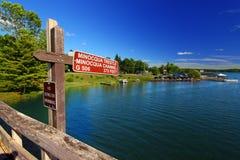 След Minocqua Висконсин положения Bearskin стоковые фото