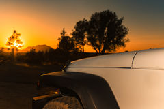 С захода солнца дороги Стоковое фото RF