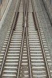 Сливать железнодорожные пути стоковое фото rf