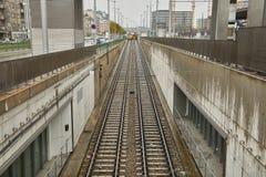 Сливать железнодорожные пути стоковые фотографии rf