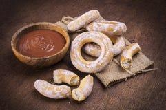 Сливк и бейгл шоколада Стоковые Фото