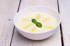 Сливк супа спаржи Стоковое Изображение