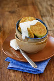 сливк fritters кислый zucchini стоковые фотографии rf