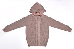 С капюшоном пуловер с длинными рукавами Стоковые Изображения RF