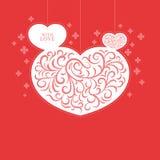 С карточкой влюбленности Стоковые Изображения