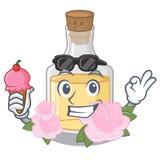 С мороженым подняло масло изолированное с талисманом иллюстрация вектора