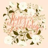 С днем рождения винтажная карточка Стоковые Фото