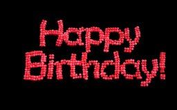 С днем рождения воздушные шары. Стоковые Фото