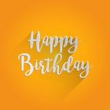 С днем рождения дизайн литерности Стоковые Изображения RF