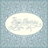 С днем рождения дизайн поздравительной открытки Стоковое фото RF