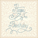 С днем рождения дизайн поздравительной открытки. Иллюстрация вектора