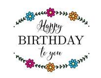 С днем рождения карточка цветка Стоковые Фото