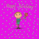 С днем рождения мальчик Стоковое Изображение