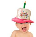 С днем рождения младенец Стоковые Изображения RF