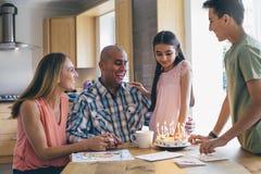 С днем рождения папа! стоковое изображение
